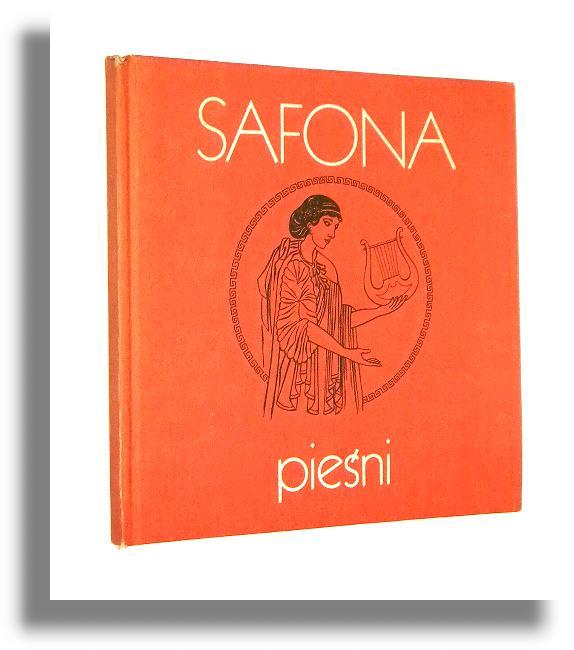 Piesni Safona Poezje Antykwariat Internetowy Nws Ksiazki